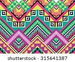geometric ethnic pattern... | Shutterstock .eps vector #315641387