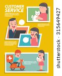 customer pet service... | Shutterstock .eps vector #315649427