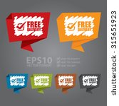 vector   free delivery paper... | Shutterstock .eps vector #315651923