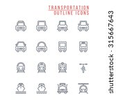 transportation outline icons | Shutterstock .eps vector #315667643