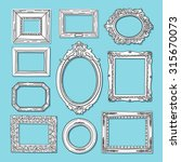picture frame vector. hand... | Shutterstock .eps vector #315670073