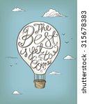 hand drawn vector motivational... | Shutterstock .eps vector #315678383