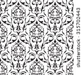 baroque seamless art pattern on ... | Shutterstock .eps vector #315702443
