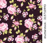 seamless floral pattern with... | Shutterstock .eps vector #315710993