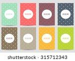 set of brochures in vintage... | Shutterstock .eps vector #315712343