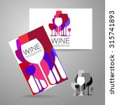 wine   logo. template concept... | Shutterstock .eps vector #315741893
