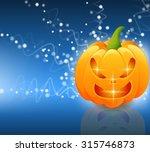 halloween scary pumpkins of... | Shutterstock .eps vector #315746873