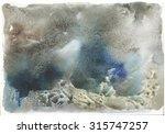 abstract watercolor splash... | Shutterstock . vector #315747257