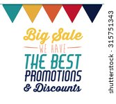 promotions and discounts ... | Shutterstock .eps vector #315751343