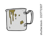 comic book cartoon old tin cup | Shutterstock .eps vector #315772337