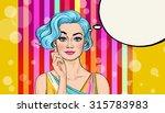 pop art illustration of girl... | Shutterstock . vector #315783983