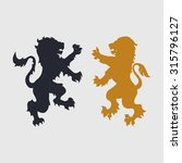 Two Silhouettes Of Lion...