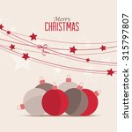 retro decorative christmas... | Shutterstock .eps vector #315797807