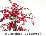Handmade Cloth Flower  Red...