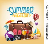 3d realistic summer vacation... | Shutterstock .eps vector #315822797
