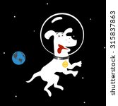 dog in space | Shutterstock .eps vector #315837863