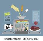 super mega steak machine.... | Shutterstock . vector #315849107