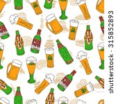 hand drawn vector seamless... | Shutterstock .eps vector #315852893