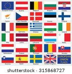 european union country flags... | Shutterstock .eps vector #315868727