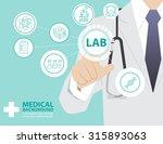 medicine doctor  working with... | Shutterstock .eps vector #315893063