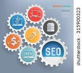 seo and web development design... | Shutterstock .eps vector #315900323