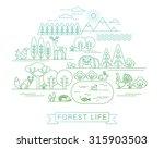vector illustration of forest... | Shutterstock .eps vector #315903503