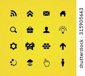 webdesign icons universal set... | Shutterstock .eps vector #315905663