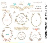 wedding retro set. arrows ... | Shutterstock .eps vector #315911447
