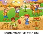 Illustration Of Cowboy Wild...