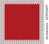 seamless knitted pattern.... | Shutterstock .eps vector #315922697