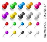 raster version. set of pushpins ...   Shutterstock . vector #315923357