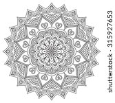 mandala. vintage decorative... | Shutterstock .eps vector #315927653