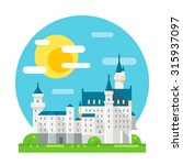neuschwanstein castle flat... | Shutterstock .eps vector #315937097