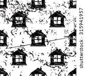 house pattern grunge  black...