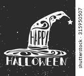halloween vector hand drawn...   Shutterstock .eps vector #315950507