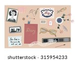 vintage blog banner with nice... | Shutterstock .eps vector #315954233