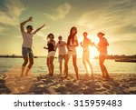 friends funny dance on the... | Shutterstock . vector #315959483