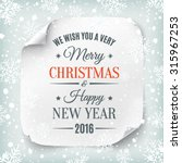 typographic merry christmas and ... | Shutterstock .eps vector #315967253