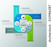 modern infographics cycle... | Shutterstock .eps vector #315986387
