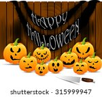 halloween scary pumpkins of... | Shutterstock . vector #315999947