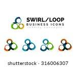 set of infinity concepts  loop... | Shutterstock .eps vector #316006307