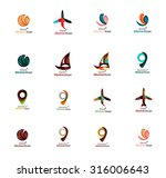 set of abstract travel logo... | Shutterstock .eps vector #316006643