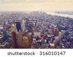 new york city manhattan skyline ... | Shutterstock . vector #316010147