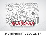 business text  with creative... | Shutterstock .eps vector #316012757