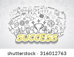 success text  with creative... | Shutterstock .eps vector #316012763