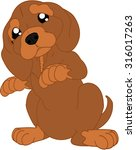 cartoon dog | Shutterstock .eps vector #316017263
