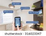 remote home control system on a ... | Shutterstock . vector #316023347