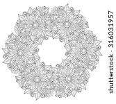 vector monochrome floral...   Shutterstock .eps vector #316031957