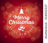 vector christmas typographic... | Shutterstock .eps vector #316032227