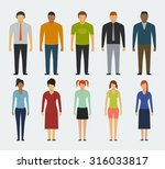 man and woman flat style people ... | Shutterstock .eps vector #316033817